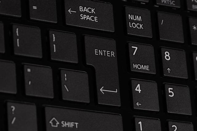 část klávesnice
