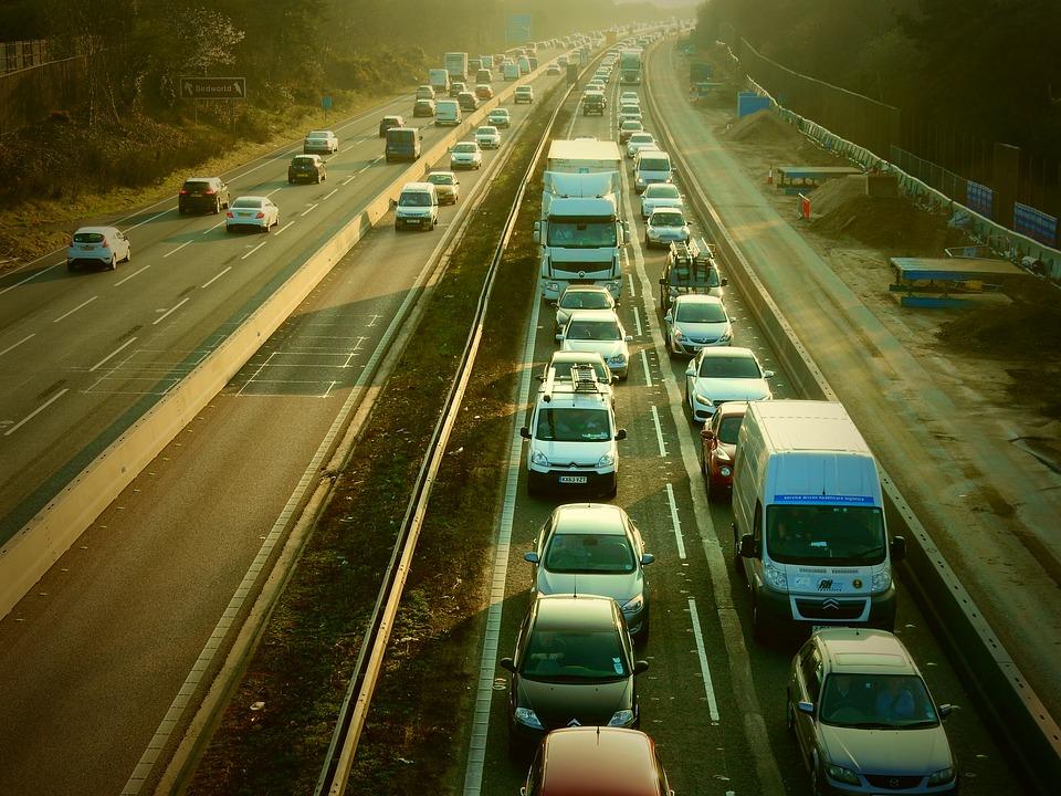 zácpa na dálnici